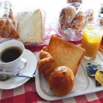 無料朝食付き
