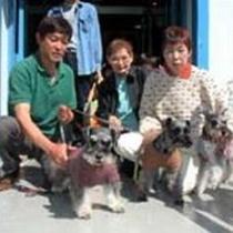 シュナ君のお友達とお散歩に行くところです(*^0゜)v