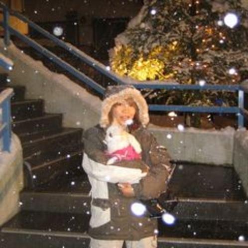 旅行デビュー×雪初体験♪ポメラニアンのミルちゃんです♪