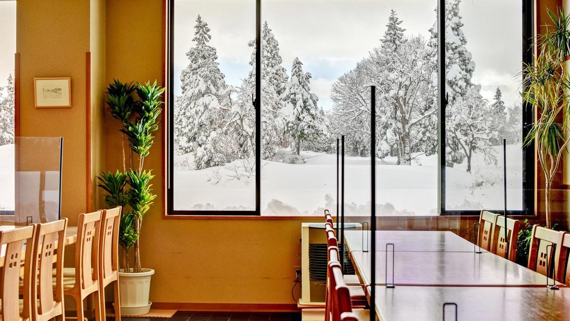 *お食事処(冬)/スキースノボの季節には雪景色をご覧いただけます