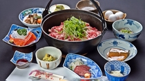 *ご夕食/選べる3種の冬鍋(グレードアップ)信州霜降り牛鍋&馬刺しで長野味覚満喫