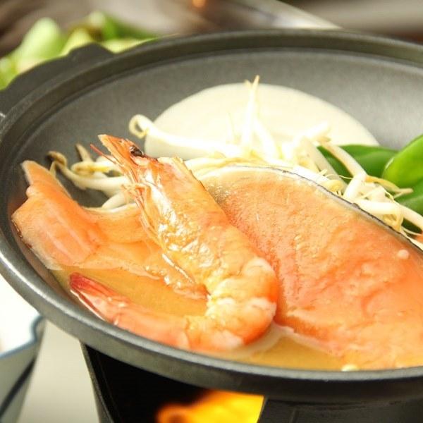 ☆料理_夕食_冬メイン_鉄板海老鮭