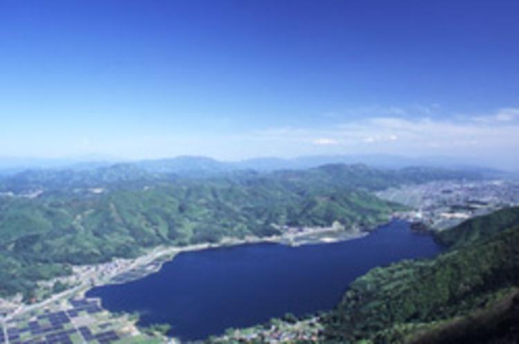 木崎湖全景