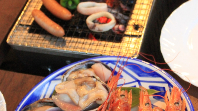 【BBQランチ】手ぶらでOK♪白樺林の中でバーベキューを楽しもう!<昼食BBQ+2食付>