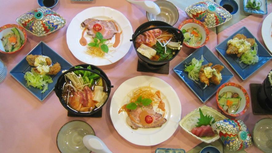 *夕食一例/季節の素材を使用した、和洋折衷のオリジナルメニューをご用意します。