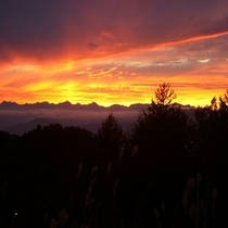志賀高原の夕日