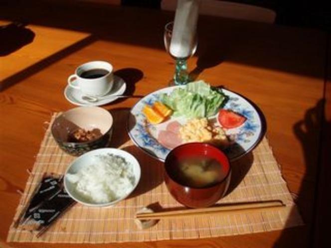 朝食(一般)高原で食べる健康朝食☆和食ご希望の方はご予約時にお申し出ください