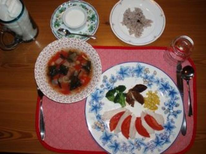 ★蒸し鶏★ダイエット合宿の方の食事です。低カロリーでも美味しくお腹も納得!