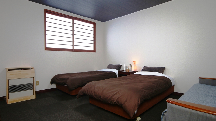 【客室】新館洋室(~3名)当館基本のお部屋タイプです。