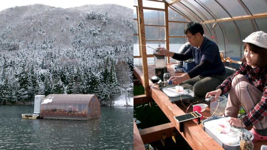 【木崎湖パウワウ-キャンプ&アウトドア】冬のわかさぎ釣り