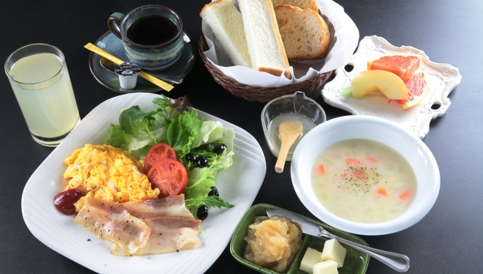 【朝食付】身体にやさしい朝食をご用意♪朝はしっかり食べて 心と身体を一休み。。。朝食のみ