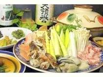 季節の鍋と山菜イメージ