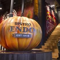 入り口かぼちゃ