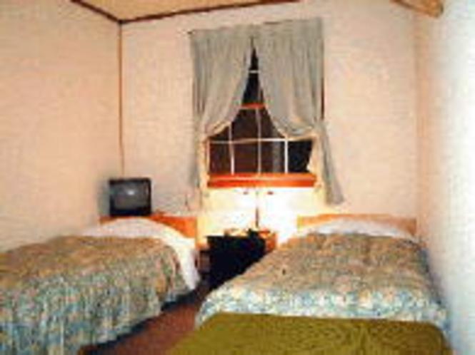 落ち着いた雰囲気のツインルーム