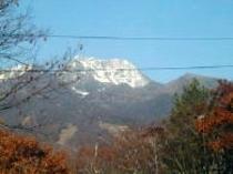 一部のツインルームから見える紅葉の妙高山
