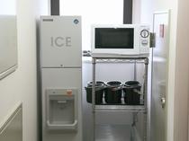 製氷機、電子レンジ