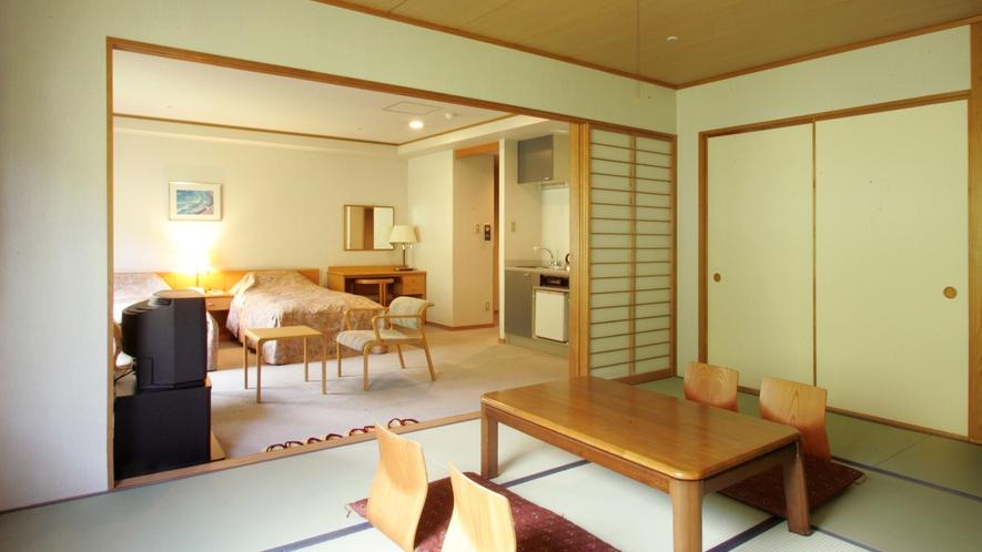 【デラックス和洋室】当ホテルでも人気のお部屋で、和室と洋間が一つになったお部屋です