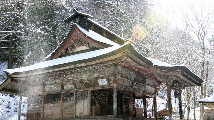 冬の文殊堂