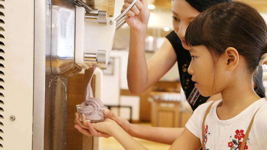 【朝食イメージ】ブルーシールのソフトクリーム(1F Allday Dining AQARIUSにて)