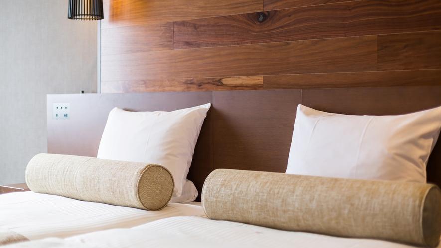 【オーシャンビュー カジュアルツイン】【カジュアルツイン】基本はベッド2台を寄せたハリウッドツイン