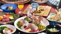 愛媛の美食を堪能できる会席料理(イメージ一例)