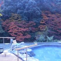 大露天風呂~紅葉の時期~