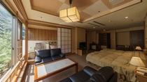 上質空間で優雅に過ごせる展望露天風呂付客室(洋室)
