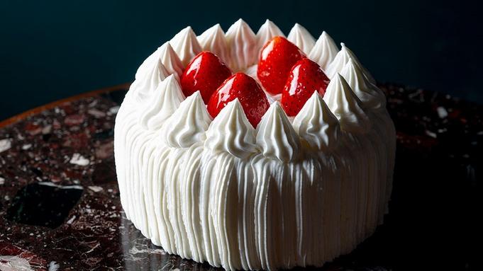 【Happy Anniversary】ゴールド&シルバーバルーンベッドメイクと苺のホールケーキ付