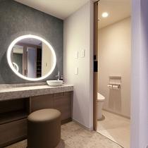 「デラックストリプル・クアッドルーム」 バスルーム
