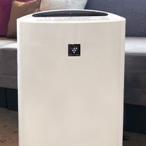 全客室にて加湿機能付き空気清浄器完備
