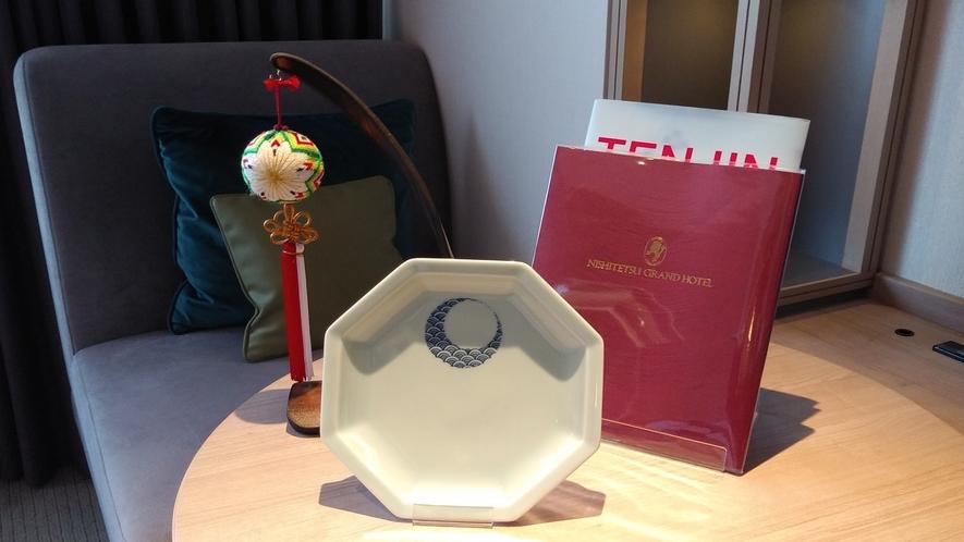 九州の伝統工芸品を全客室にちりばめてお客様をお迎えいたします