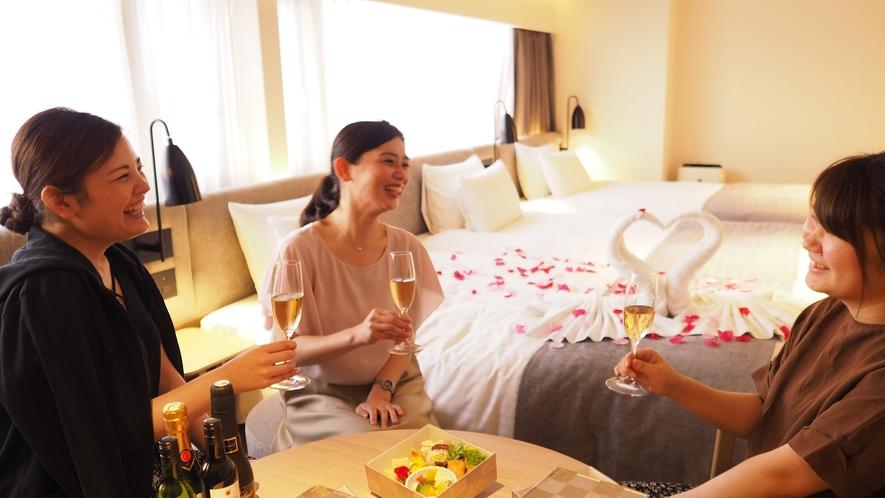 【大人の女子会プラン】ホテルスタッフが考えた「ご褒美プラン」です。