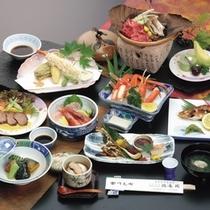 ボリューム満点日本海の幸!政竜料理例