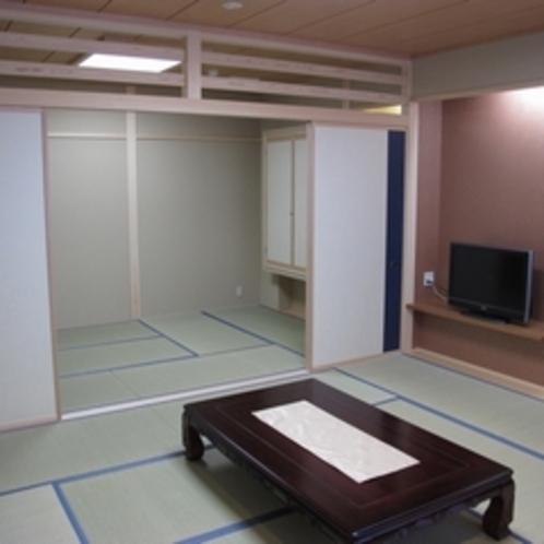 プチ離れ気分の二間続き新和室7.5+12.5畳
