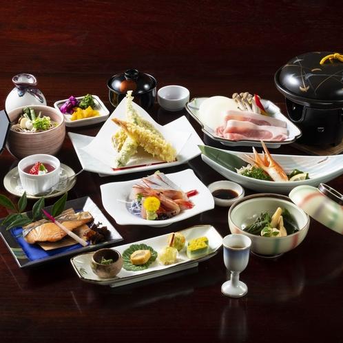 お手ごろ価格で日本海の幸を!湯の華料理例