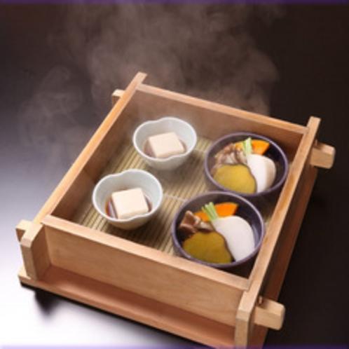 胡麻豆腐と温野菜