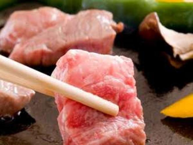 松阪牛の陶板焼き