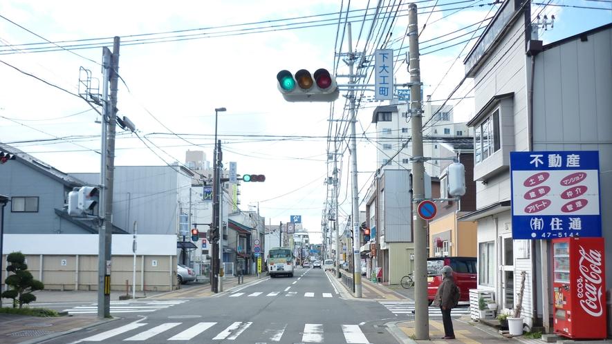 「国道45号線を青森方面から⑥」:2つ目の信号をまた右折です。