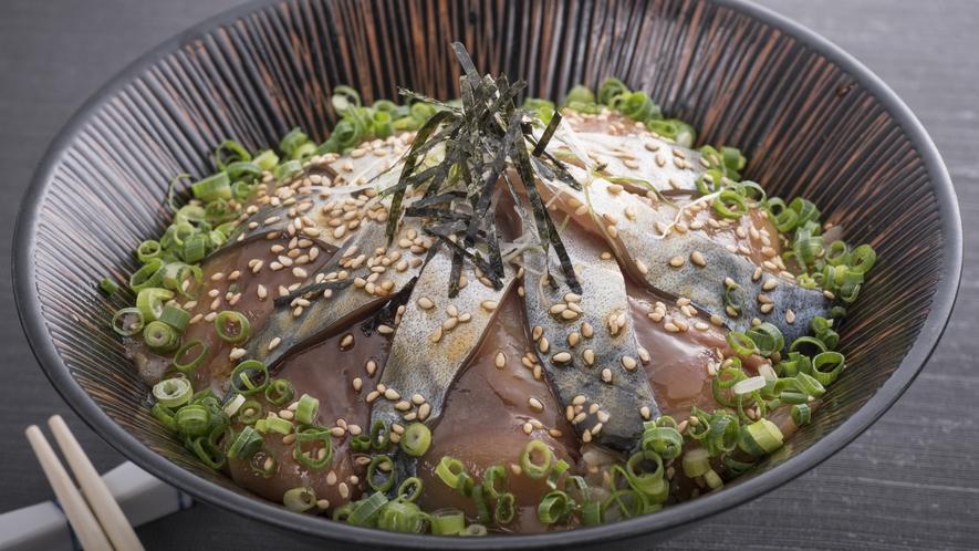 【サバの漬け丼】 日本で最初のサバ料理専門店「サバの駅」で召し上がれます。