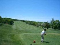 高原でゴルフ