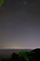 星空と夜景
