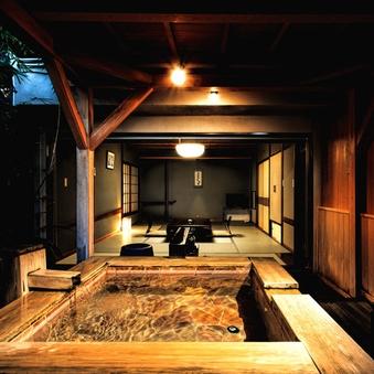檜と岩の露天風呂付き客室【風さやか】《禁煙》