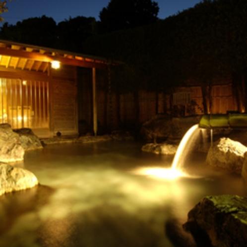 天然温泉100%、開放感あふれる露天風呂