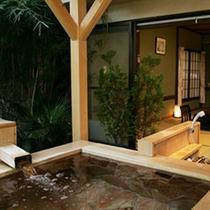 *大きな露天風呂付客室【風さやか】大人様2名様ゆうに浸かれます。