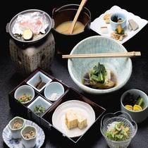 朝食は和食*