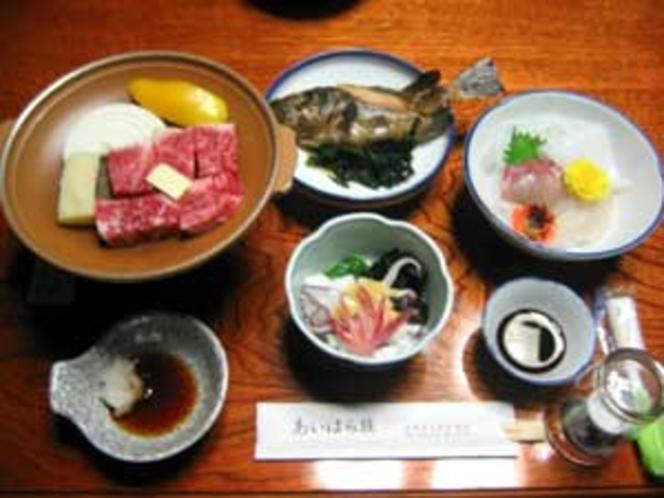 夕食例(吸物・香物・果物・ご飯付)