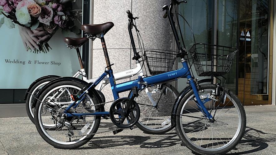 レンタル自転車で街の中心部へ