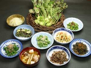 山菜、郷土料理