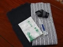 ゆかた、タオル、歯ブラシ、茶羽織