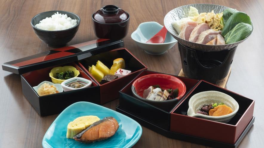 和朝食 ※通常はバイキングですが、個人食に変更させていただいております